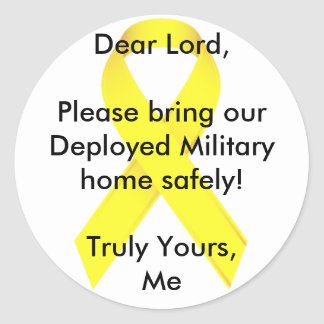 親愛なる主は私達の配置された軍の家を持って来ます! ラウンドシール