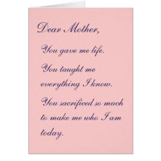 親愛なる母 カード