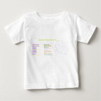 「親愛なる神」のベビーの活動のTシャツ ベビーTシャツ