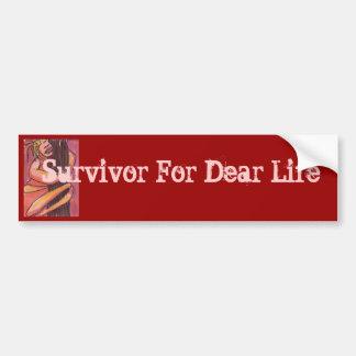 親愛なるLifeの生存者 バンパーステッカー