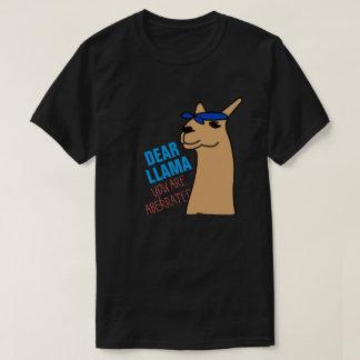 親愛なるLlama Tシャツ
