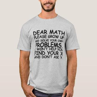 親愛なるMath Shirt Tシャツ