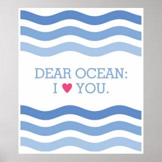 親愛なるOcean Poster ポスター
