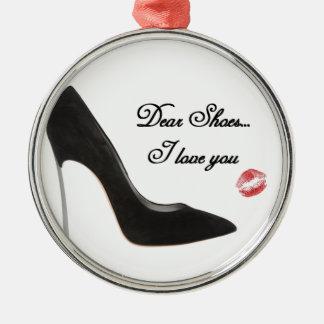 親愛なるShoes….私は愛します メタルオーナメント