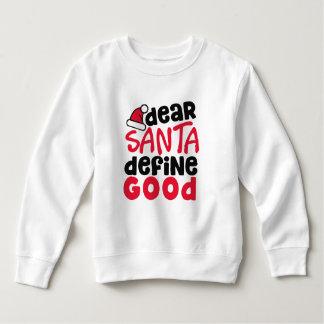 親愛なサンタのおもしろいなクリスマス|のスエットシャツ スウェットシャツ