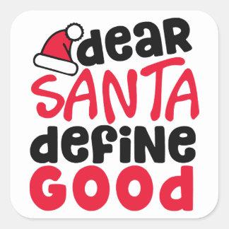 親愛なサンタのおもしろいなクリスマス|のステッカー スクエアシール