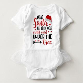 親愛なサンタのクリスマスのワイシャツ ベビーボディスーツ