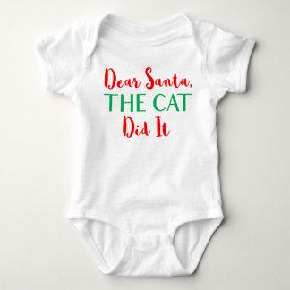 親愛なサンタは、猫それをしました! ベビーの用品類 ベビーボディスーツ