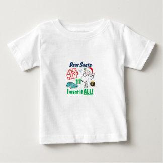 親愛なサンタ私はそれがすべてほしいと思います ベビーTシャツ