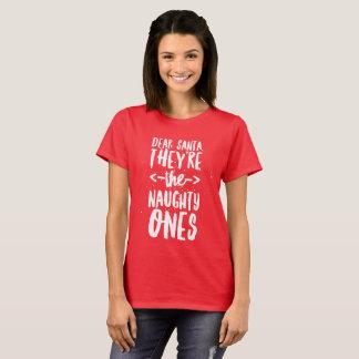 親愛なサンタ、それらはいけない物です Tシャツ