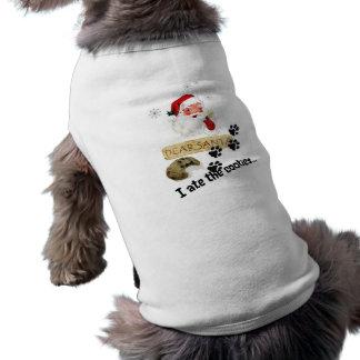 親愛なサンタ-私はクッキーペット衣類を食べました ペット服