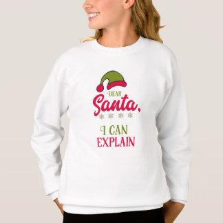 親愛なサンタ、私は説明してもいいです スウェットシャツ