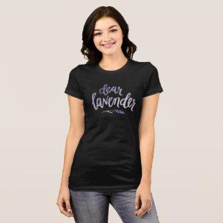 親愛なラベンダーの…黒 Tシャツ