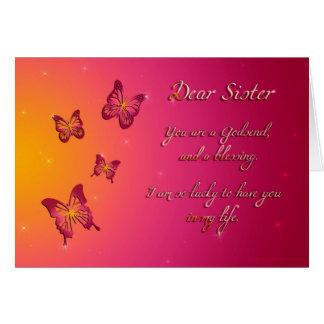 親愛な姉妹のハッピーバースデー カード
