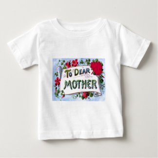 親愛な母春の花の母の日カード ベビーTシャツ