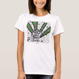 親指のために音楽(女性) Tシャツ