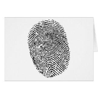 親指のプリント カード