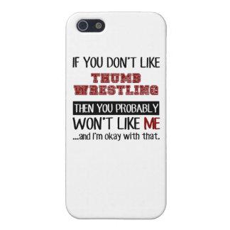 親指のレスリングのカッコいいを好まなければ iPhone 5 COVER