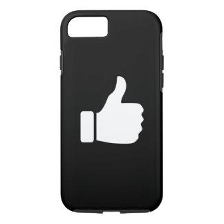親指はピクトグラムのiPhone 7の場合を持ち上げます iPhone 8/7ケース