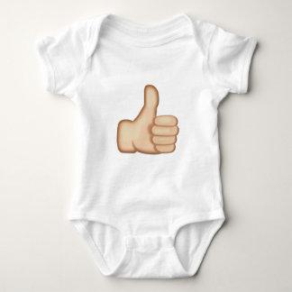 親指は印Emojiを持ち上げます ベビーボディスーツ