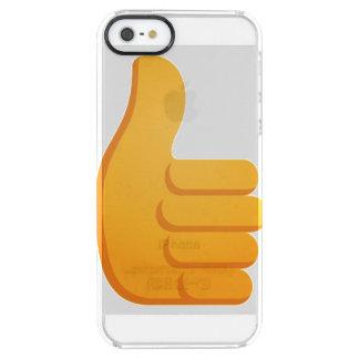 親指はEmojiを持ち上げます クリア iPhone SE/5/5sケース