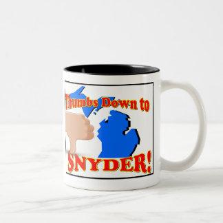 親指リックSnyderに ツートーンマグカップ