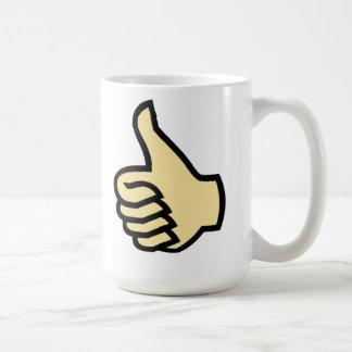 親指 コーヒーマグカップ