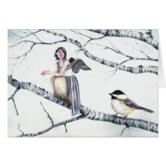 """""""親族- Deanna Bachの芸術による《鳥》アメリカゴガラ"""" カード"""