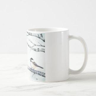 """""""親族- Deanna Bachの芸術による《鳥》アメリカゴガラ"""" コーヒーマグカップ"""