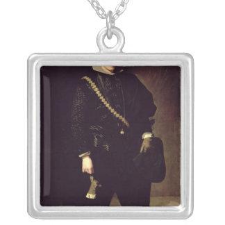 親王ドンカーロスc.1626-27のポートレート シルバープレートネックレス