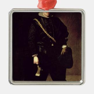 親王ドンカーロスc.1626-27のポートレート メタルオーナメント