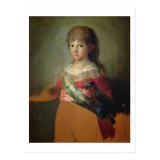 親王ドンフランシスコdeポーラAntonio 1800年( ポストカード