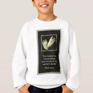 親生命祈りの言葉カードニット一緒子宮[1] スウェットシャツ