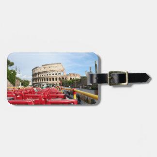観光バスからのローマのColosseumの眺め ラゲッジタグ