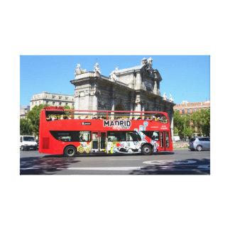 観光バス、マドリード キャンバスプリント