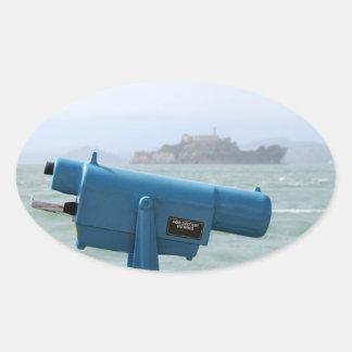 観察の視聴者Alcatraz 楕円形シール