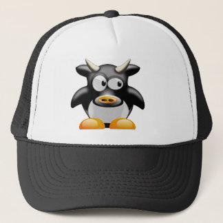角を持つペンギン牛 キャップ