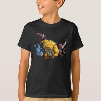 角充満! 子供の暗いワイシャツ Tシャツ