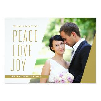 角度の平和愛そして喜び 12.7 X 17.8 インビテーションカード