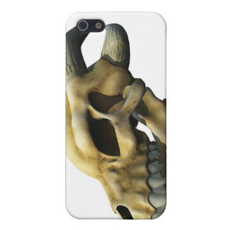 角状のドラゴンのスカル iPhone 5 CASE