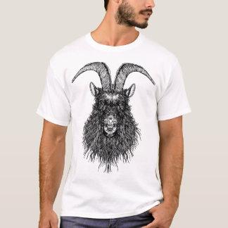 角状のヤギの頭部 Tシャツ