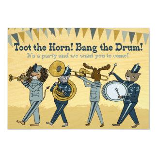 角-マーチングバンドの誕生日の招待--を鳴らして下さい カード