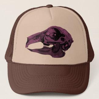 解剖ウサギのスカルの紫色 キャップ