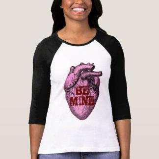 解剖キャンデーのハート3/4のRaglan Tシャツ
