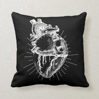 解剖ハートの絵の装飾用クッション クッション