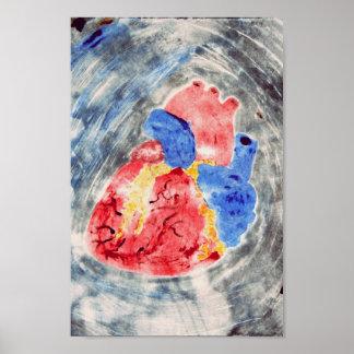 解剖ハートのMonotype ポスター