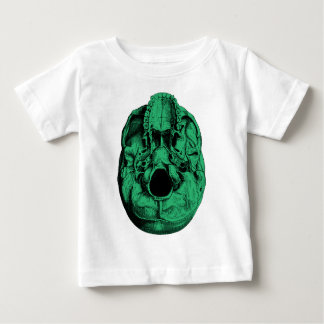 解剖人間のスカルの基盤の緑 ベビーTシャツ