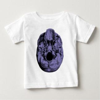 解剖人間のスカルの基盤の青 ベビーTシャツ