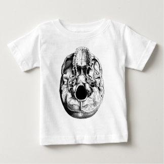 解剖人間のスカルの基盤の黒及び白 ベビーTシャツ