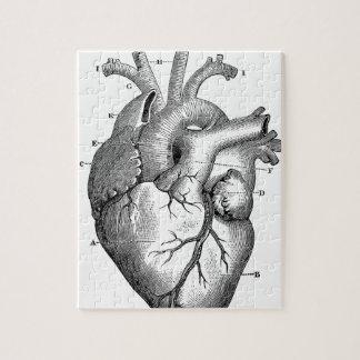 解剖学ハートイメージヴィンテージ ジグソーパズル